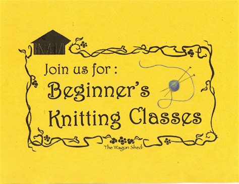 knitting classes the wagon shed