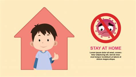stay  home illustration  children character