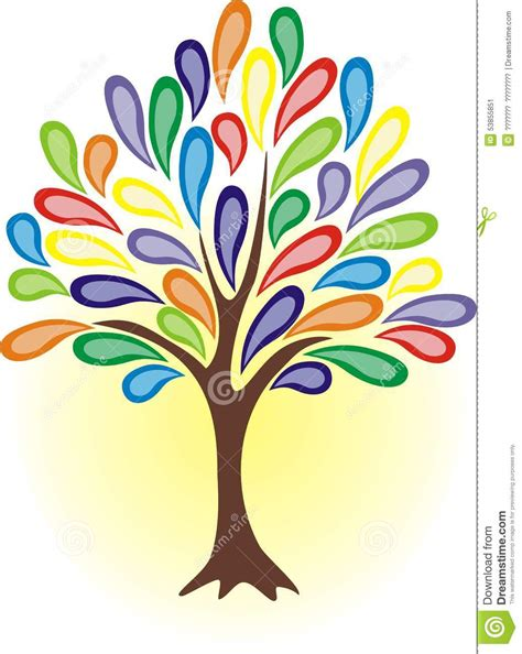 colorful tree colourful tree stock vector image of flower branches