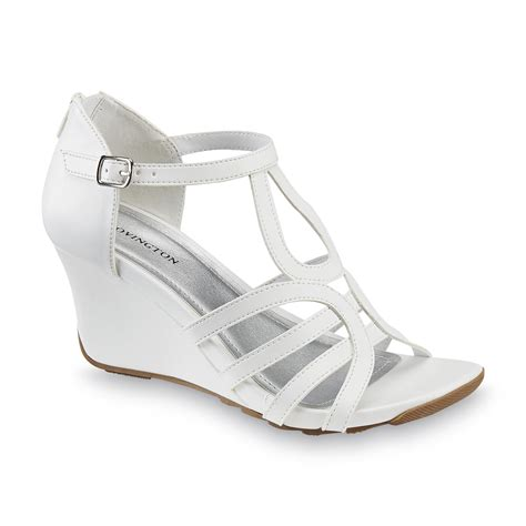 covington s citywide white wedge sandal