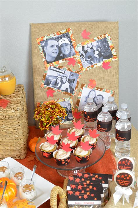 fall bridal shower supplies fall in bridal shower theme candles and favors