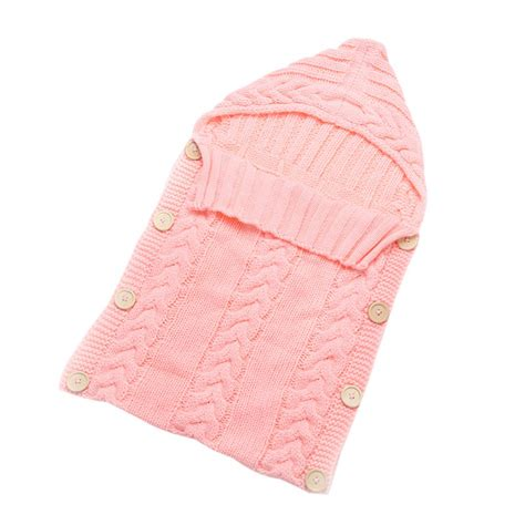 Baby Blanket Sleeper Bag by Baby Warm Swaddle Wrap Blanket Newborn Knitted