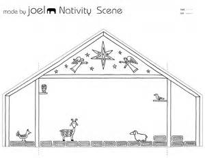 manger template nativity free patterns coloring pages