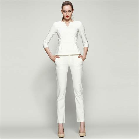 white pant suit white womens suit pi
