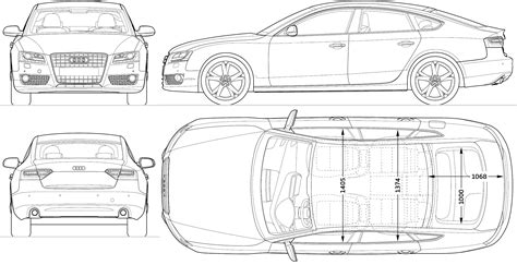 free blueprint car blueprints 2009 audi a5 sportback hatchback blueprint