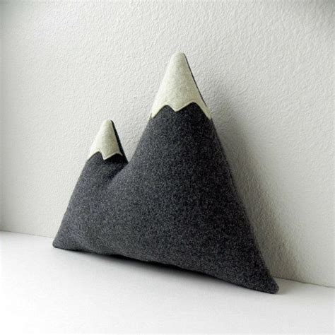 Plush Pillows The Brothers Plush Wool Mountain Pillow