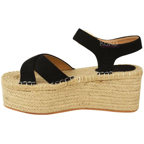 womens wedge slippers womens flatforms espadrille wedge ankle strappy