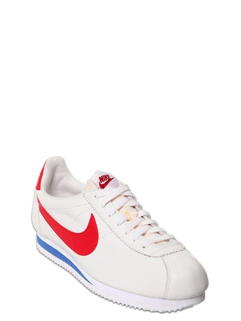 nike sneakers for nike cortez classic premium leather sneakers in white for
