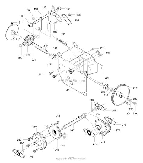 murray snowblower parts diagram murray 627804x79b dual stage snow thrower 2000 parts