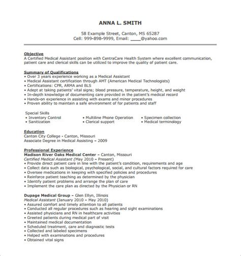 medical assistant resume objective examples shalomhouse us ooder co