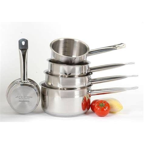 casserole cuisine gamme pro lot de 5 casseroles 12 14 16 18 20 cm achat