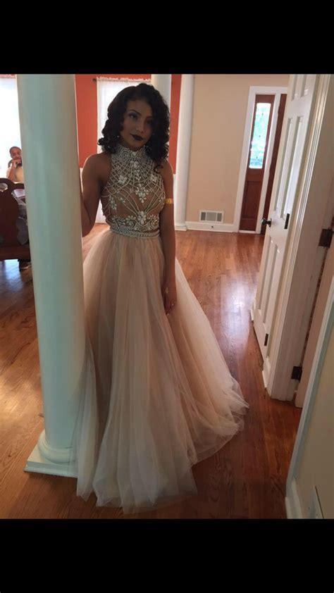 Longdress Set 2in1 Glitter Pink custom made light chagne 2 pieces prom dress dresses for prom