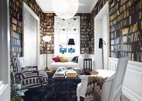 Fake Bookshelf Wallpaper   iDesignArch   Interior Design