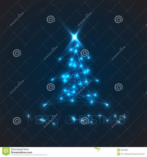 vector christmas tree from digital lights stock