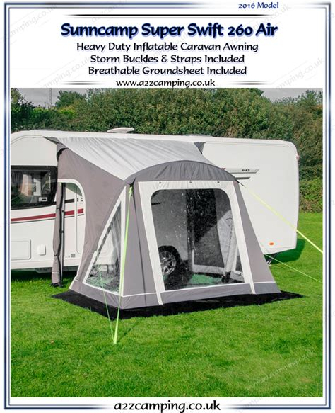 Sunncamp Porch Awnings 2016 Sunncamp Super Swift 260 Air Heavy Duty Inflatable Awning