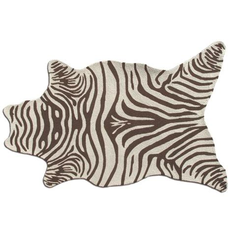 Zebra Indoor Outdoor Rug Zebra Brown Shaped Hook Indoor Outdoor Rug 8x10 Shaped