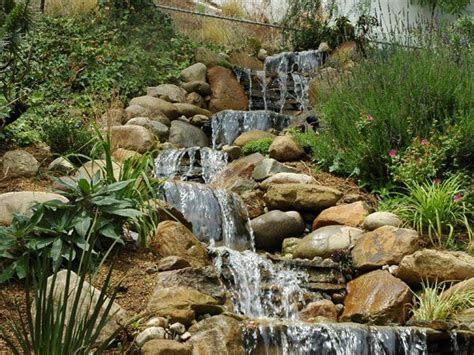 waterfall designs for backyards topanga backyard waterfall garden dreams pinterest