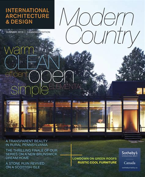 home design and architect magazine saint john modern architecture featured in international