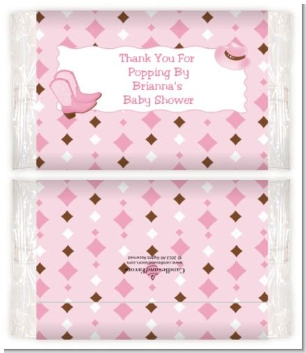 Baby Shower Popcorn Wrappers by Western Baby Shower Popcorn Wrappers Baby Shower
