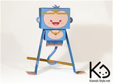 Monkey Papercraft - monkey king papercraft paperkraft net free papercraft