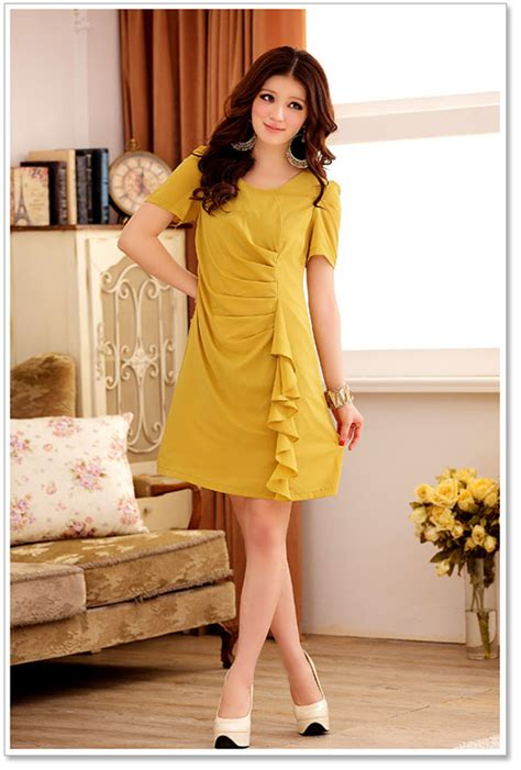 clothes wholesale trendy dress k3402 yellow k3402