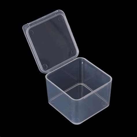 small accessories 4x4x2 8cm transparent plastic small cartridge storage box has a lid small accessories