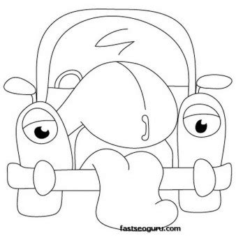 cartoon cars drawings coloring page printable coloring