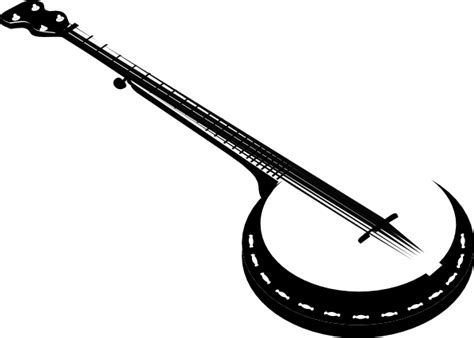 banjo clip 5 string banjo clip at clker vector clip