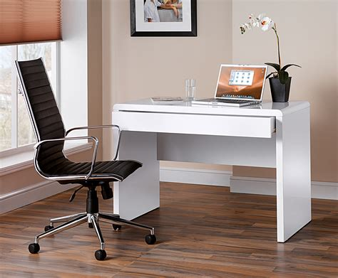 White Gloss Office Desk White High Gloss Home Office Desk