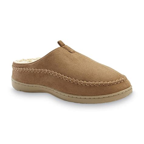 sears mens house slippers dockers men s top stitch tan clog slipper shoes men s shoes men s slippers