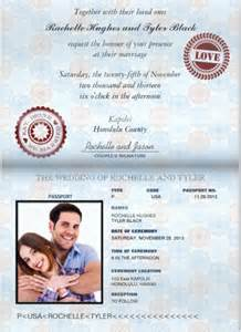 passport wedding invitations template 15 passport invitation templates free sle exle