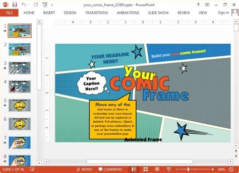 how to make a powerpoint template animated comic book template for powerpoint