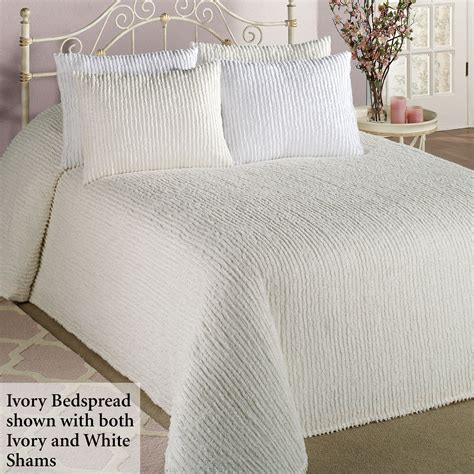 white bed coverlet white chenille bedspreads queen decor ideasdecor ideas