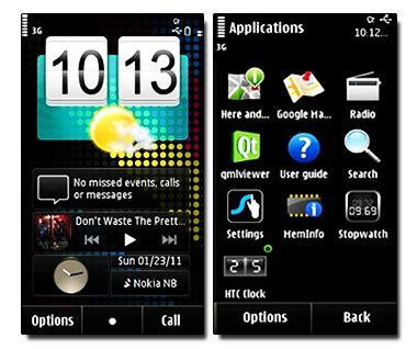 htc themes for nokia 5233 original htc clock for your nokia symbian mobiles s60v5