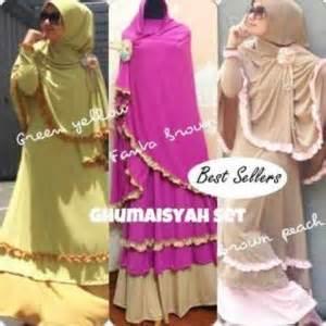baju gamis kerudung bergo renda koleksi busana muslimah baju gamis kerudung mix renda ghumaisyah koleksi busana