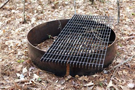 Lovely Outdoor Fire Pit Grate Garden A Little Bit Touching Pit Grate