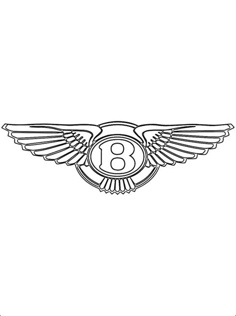 Bentley logo coloring page   Coloring pages