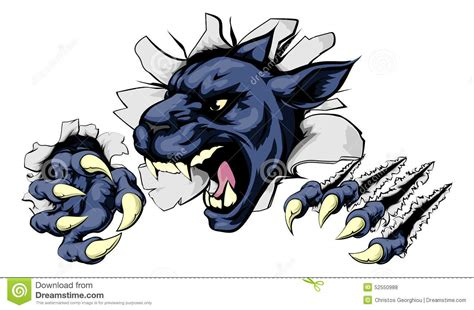 panther ripping through background stock vector image