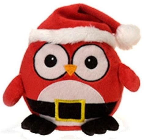 santa claus christmas owl stuffed animal  fiesta plush friends