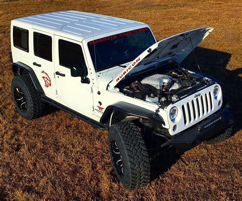 jeep hellcat custom dakota customs hellcat wrangler conversion priced at