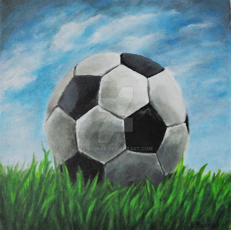 soccer painting football soccer by ehasnas on deviantart