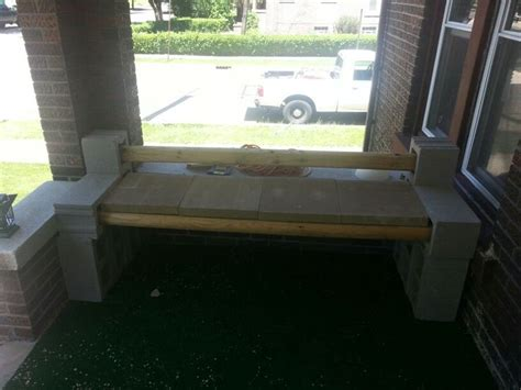 cinder block bench with back cinder block bench 10 blocks 1 38ea 4 landscape