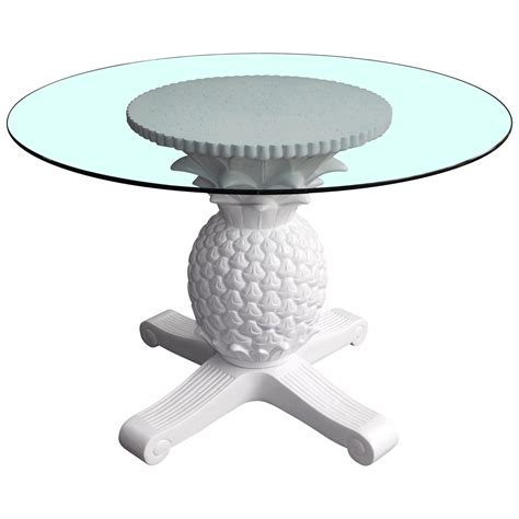 pineapple dining table set pineapple glass top dining table chairish