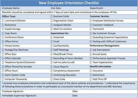 New Employee Program Template