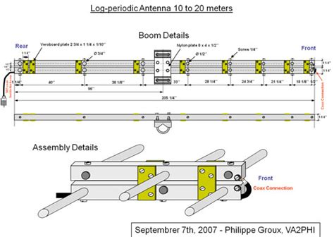 Antena Anten Rc Mobil Remote Radio Lifier Cowok 35cm element spacing for a log periodic antenna for 10 20 meters bands
