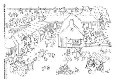 scheune malvorlage als pdf natur bauernhof ponyhof schule
