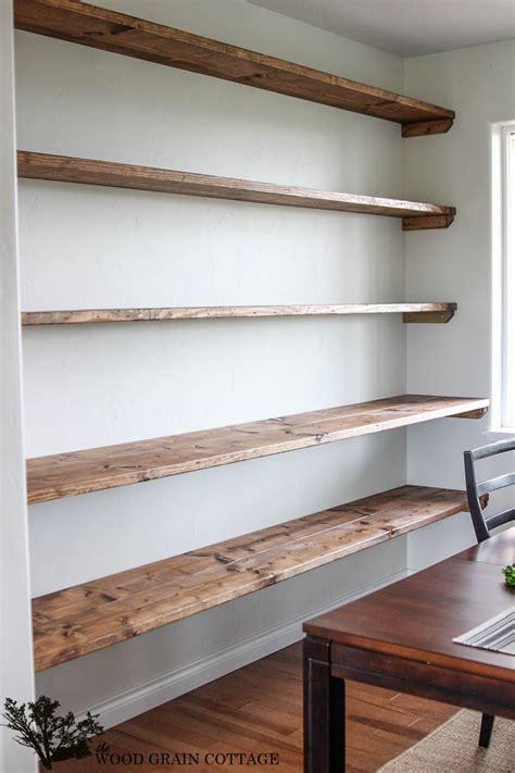 open wall shelves diy dining room open shelving shelving wood grain and