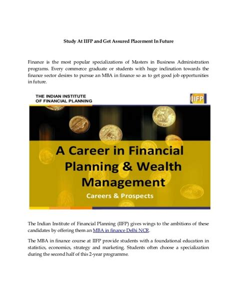One Year Mba Delhi Ncr by Mba In Finance Delhi Ncr