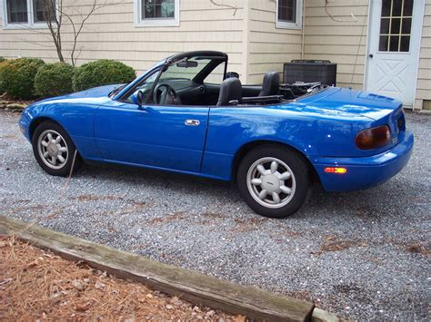 mazda convertible blue 1990 mazda miata base convertible 2 door 1 6l for sale in