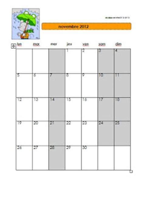 Calendrier Novembre 2012 Ecrire Avec Ludo Calendrier Novembre 2012